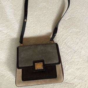 NWT- Salvatore Ferragamo suede crossbody bag
